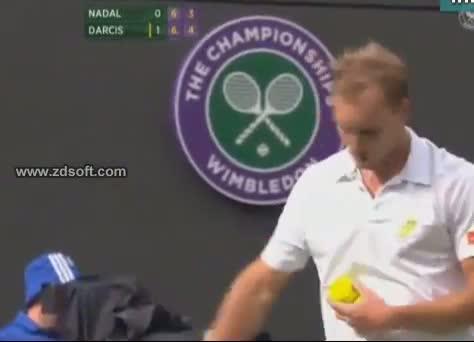 Steve Darcis wins 2nd set against Rafael Nadal Wimbledon 2013