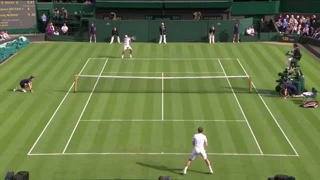 Andy Murray v Benjamin Becker Highlights - Wimbledon 2013 - Day 1