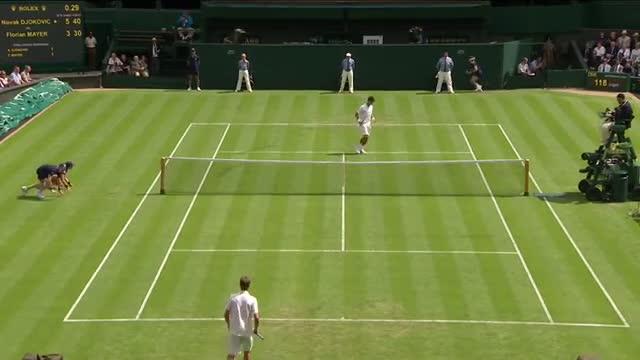 Novak Djokovic v Florian Mayer - Wimbledon 2013 Day 2 Highlights