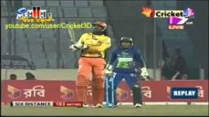 Chris Gayle 114 runs of 51 balls{12xSixes} - BPL 2013 - Match 15 - Feb 2013
