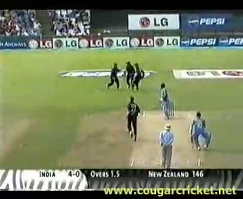 INDIA vs NEW ZEALAND, 2003 WORLD CUP SUPER SIX MATCH