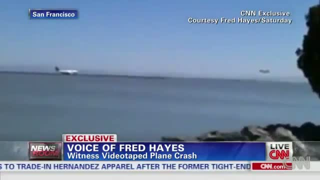 Fred Hayes Video Asiana Airlines Flight 214 Boeing 777 Plane Crash At SFO
