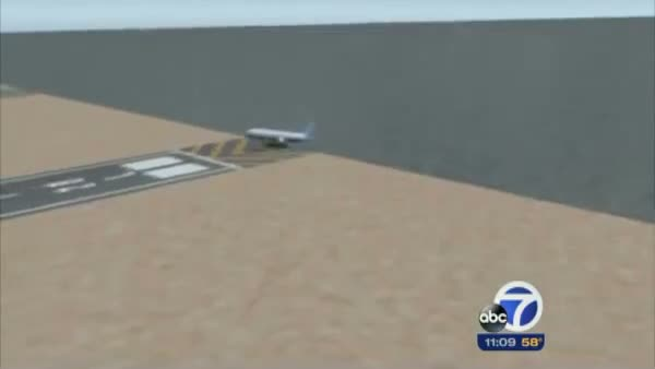 Plane Crash Animation Depicts Asiana Boeing 777 Flight Crash Landing at SFO San Francisco
