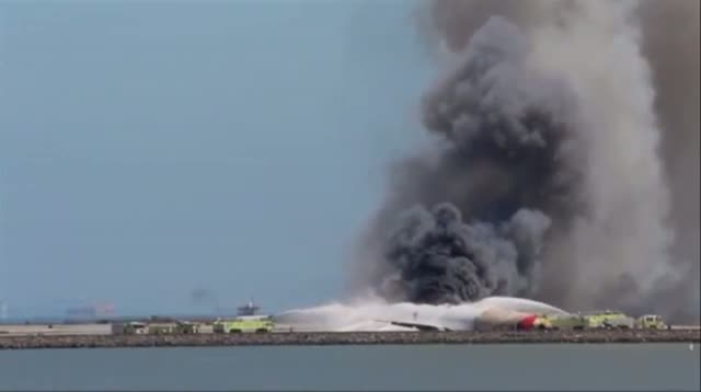 Asiana Crash Scene Moments After Impact