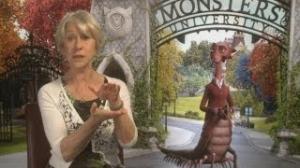 Helen Mirren on Monsters University: Helen's greatest fear is going to parties