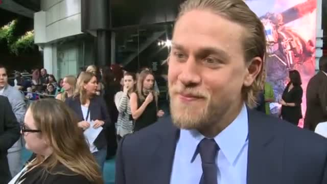 Charlie Hunnam interivew: At the Pacific Rim premiere Charlie Hunnam talks alien invasions