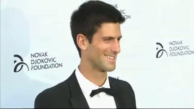 Gerard Butler and Wimbledon runner-up Novak Djokovic join forces at charity gala
