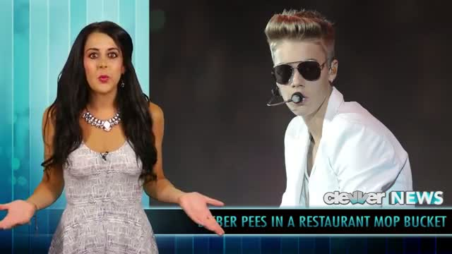 Justin Bieber Pees In a Mop Bucket VIDEO!