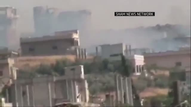 Syrian Army Firing at Homs, Damascus