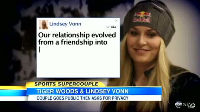 Tiger Woods, Lindsey Vonn Dating Couple Releases Photos, Says They're 'In a Relationship