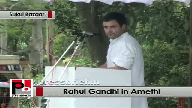 Rahul Gandhi in Amethi informs about proposed Food Park in the constituency