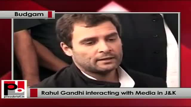 Rahul Gandhi I would like to see Kashmir as one of the fastest progressing states