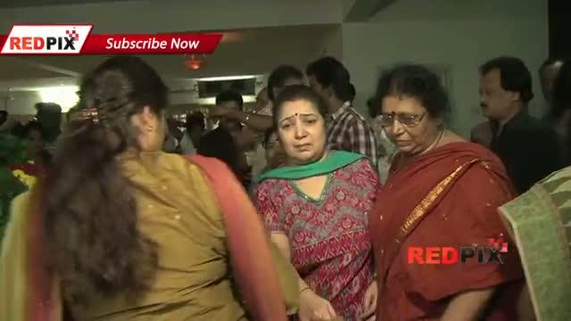 Actress Radhika,Poornima ,Sangavi pay Homage - actress Manjula Vijayakumar died today.