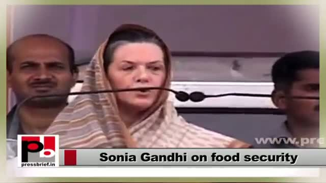 Sonia Gandhi - guiding force behind UPA's food security scheme