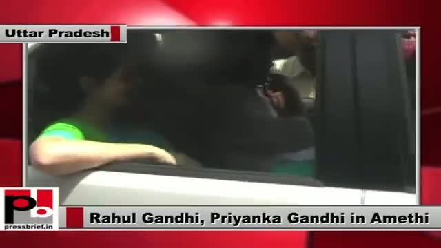 Rahul Gandhi, Priyanka Gandhi on a three-day visit to Amethi
