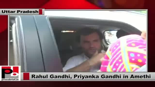 Rahul Gandhi and Priyanka Gandhi visit Amethi with a mission to strengthen Congress