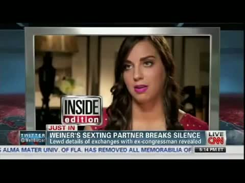Weiner's $EXTING Partner Sydney Leathers: Anthony Weiner Said He Loved Me