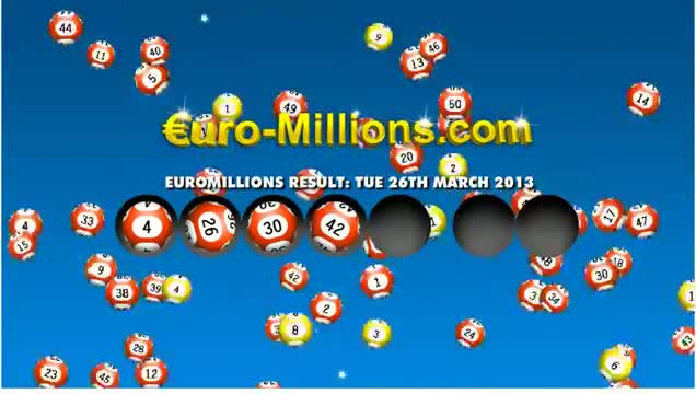 EURO MILLIONS LOTTERY RESULTS / WINNING NUMBERS - DRAW 610, 26 JULY 2013