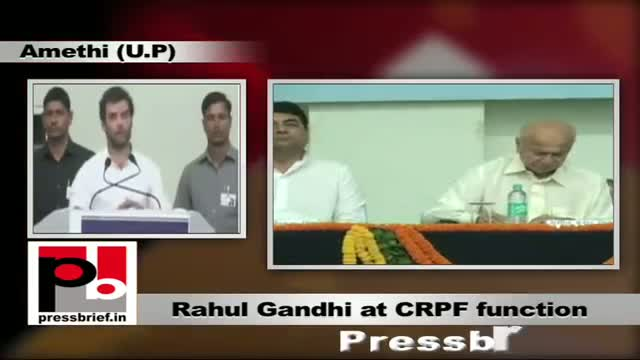 Control anger, urges Rahul Gandhi at CRPF function in Amethi