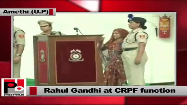 Rahul Gandhi at foundation-laying function for CRPF recruitment centre in Amethi