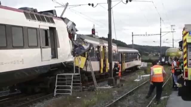 Dozens Injured in Swiss Train Crash