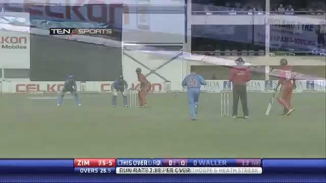 India vs Zimbabwe 4th ODI - Zimbabwe Best 4'S & 6'S Highlights