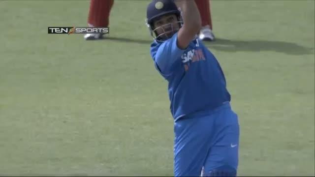 India vs Zimbabwe 4th ODI - ROHIT SHARMA 50 Highlights