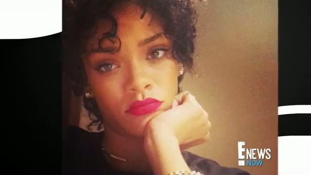 Rihanna Debuts Short, Curly Hair