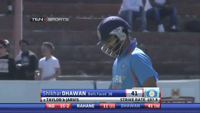 India Wickets - India vs Zimbabwe 5th ODI - 3 Aug 2013