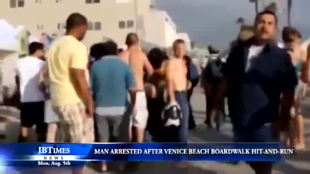 Venice Boardwalk Crash Beach Crowd hit and run by Nathan Louis Campbell, 38, of Los Angeles arrested