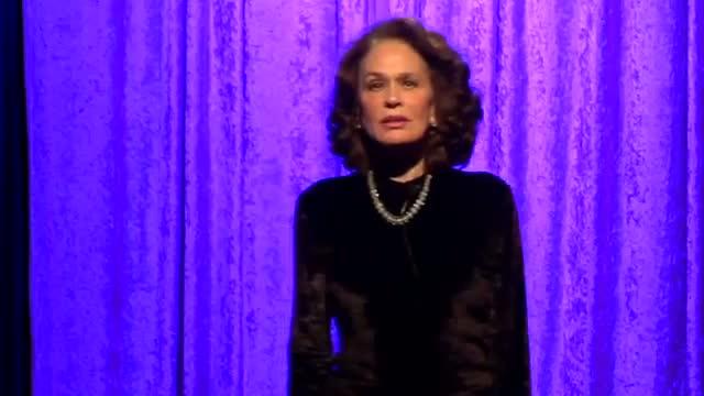 Karen Black performing Portia from Julius Caesar