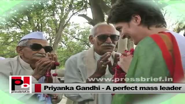 Priyanka Gandhi easily strikes chord with common people
