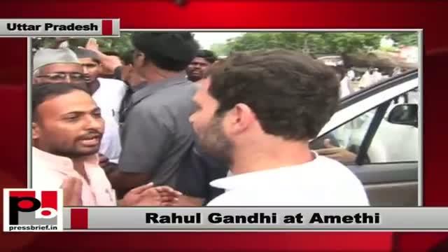 Rahul Gandhi visits Amethi; attends meeting of SHG workers