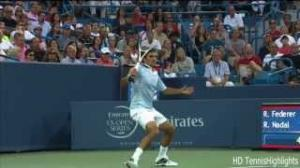 Hot Shots Roger Federer vs Rafael nadal Quarterfinals Cincinnati Masters 2013