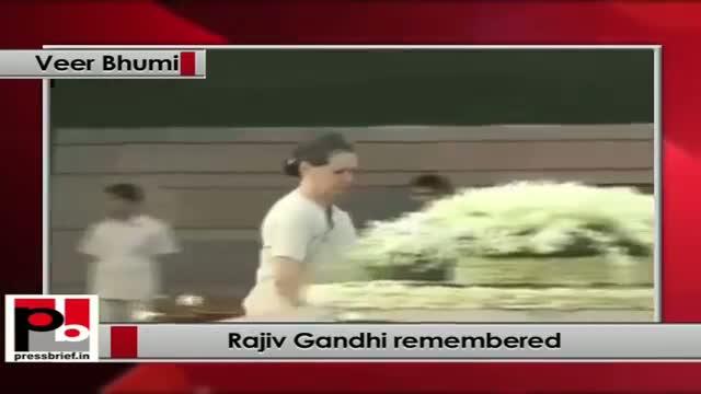 Rajiv Gandhi remembered on his 69th birth anniversary