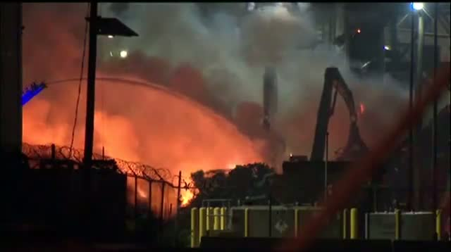 Huge Fire at NJ Recycling Plant
