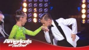 "Ruby & Jonas - Kids Dance and Boogie to ""Runaway Baby"" by Bruno Mars - America's Got Talent 2013"