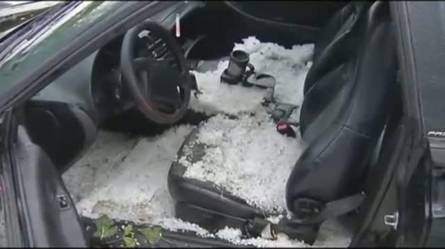 Colorado Hail Looks Like Summer Snowstorm