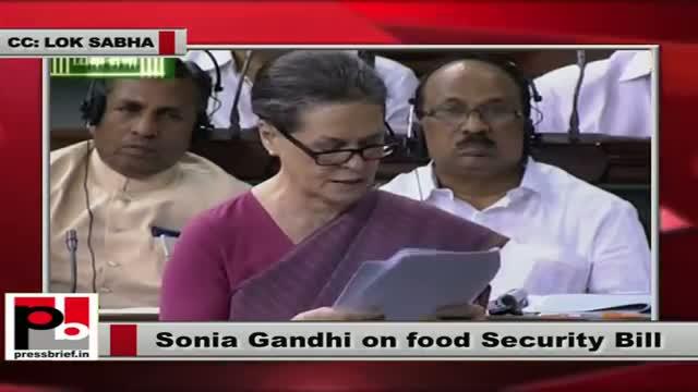 Sonia Gandhi's powerful speech on Food Security Bill in Lok Sabha