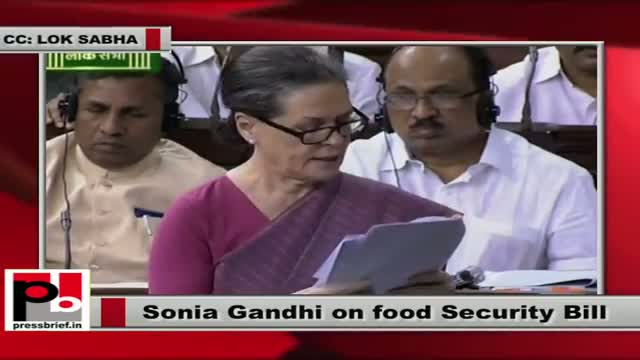 Sonia Gandhi in Lok Sabha urges MPs: Set aside differences, pass the Food Security Bill