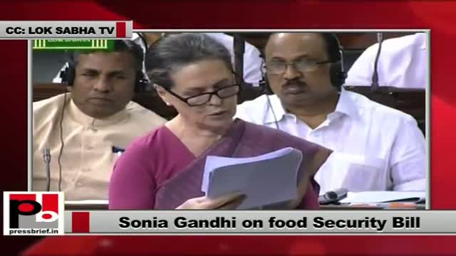Sonia Gandhi's dream project Food Security Bill passed by Lok Sabha