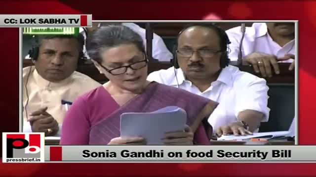 Sonia Gandhi: Food Security scheme an opportunity to transform the lives of poor in our country