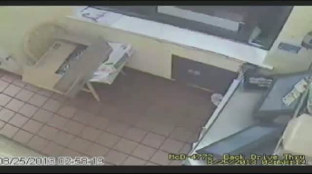 Suspect Jumps Through Drive-Thru Window