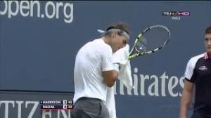 Rafael Nadal vs Ryan Harrision - US Open 2013 - Set 1 (Part 3)