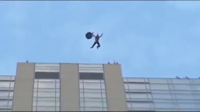 Base Jumpers Leap Off 45-Story Denver Hotel