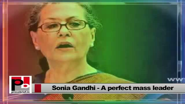 Sonia Gandhi speaks at Rajiv Gandhi Sadbhavana award function