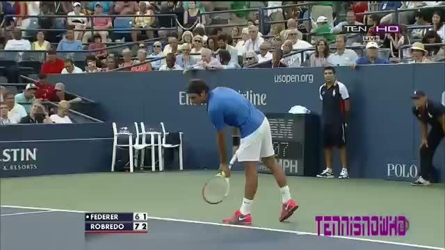 Roger Federer vs Tommy Robredo Highlights Round 4 US OPEN 2013 Highlights HD