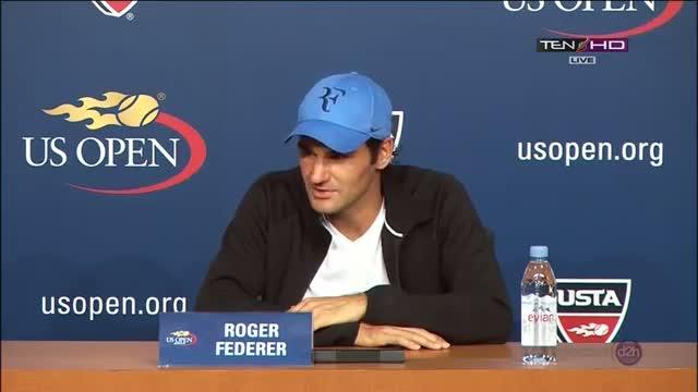 Roger Federer Press Conference vs Tommy Robredo Round 4 US OPEN 2013