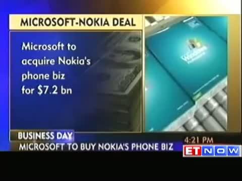 Microsoft to buy Nokia mobile unit to fight Apple, Google