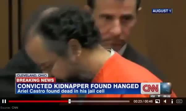 Cleveland Kidnapper Ariel Castro Found Dead in Prison Cell